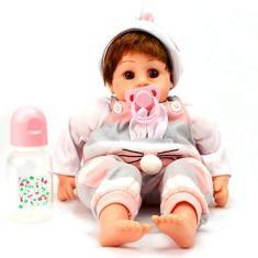 Imagem de Boneca Bebê Reborn Baby Menina Mamadeira Chupeta Imã 303BNM