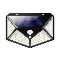Imagem de Refletor Com Sensor De Presença Placa Solar Externo 100 Leds Resistente 3 Funções