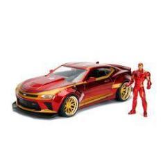 Imagem de Veículo E Figura Jada Metal Marvel 1:24 Homem De Ferro E Chevy Camaro - Dtc - Unico