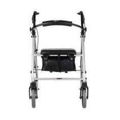 Imagem de Andador de aluminio dobravel com rodas assento e cesta mercur