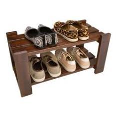Imagem de Sapateira Em Madeira Para Organizar Sapatos Cor Imbuia