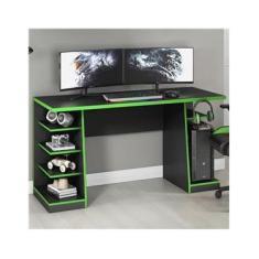 Mesa Gamer Legend Ideal Para 2 Monitores Preto/verde - Notavel