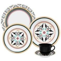 Imagem de Aparelho Jantar e Chá 20 Peças Floreal Luiza Oxford Porcelanas