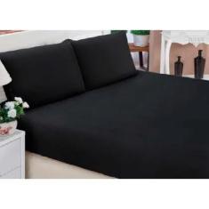 Imagem de Lençol cama queen box casal 100% algodão em malha 2 fronhas  - 3 peças