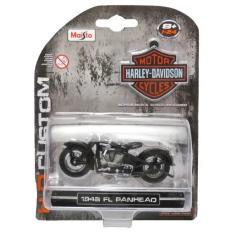 Imagem de Moto Harley Davidson 1948 FL Panhead - HD Custom - 1/24 - Maisto