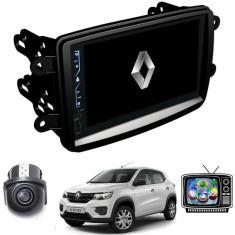 "Central Multimídia Automotiva H-Tech 7 "" Renault Kwid 2017 2018 2019 2020 2021 Touchscreen Bluetooth"