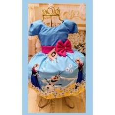 Imagem de Vestido Infantil tema Princesa Gelo Primavera