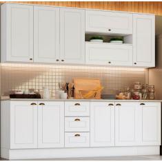 Imagem de Cozinha Compacta 3 Gavetas 11 Portas com vidro Americana Henn