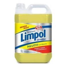 Kit C\4 Detergente Limpol 5 Litros Neutro Bombril Tipo Ypê