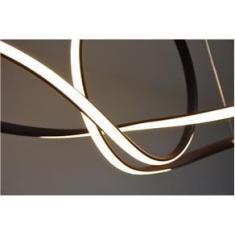 Imagem de Lustre Pendente Led 45w Design Moderno Curvas Café Luz 3em1