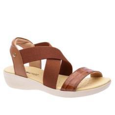 Imagem de Sandália Anabela Doctor Shoes COURO Caramelo - Masculino