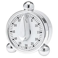 Imagem de Hauskraft TMER-001 Timer para Cozinha em ABS/Cromo, Prata