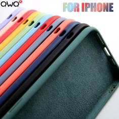 Imagem de Original silicone líquido caso de luxo para apple iphone 11 12 pro max mini 7 8 6s plus xr x xs max