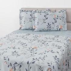 Imagem de Jogo De Cama Solteiro Garden 3 Peças Percal 200 Fios em cetim 100% algodão - Casa & Conforto