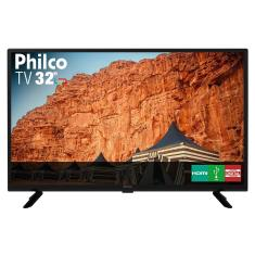 "TV LED 32"" Philco PTV32G50D 2 HDMI USB Frequência 60 Hz"