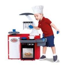 Imagem de Brinquedo Infantil Menino Menina Cozinha Classic Sai Agua Varios Acessorios