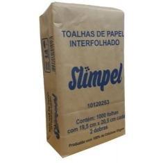 Imagem de Toalha Papel Interfolha Folha Slimpel 19,5x20,5cm1.000fl