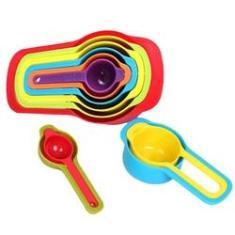 Imagem de Medidores Dosadora Conjunto De 6 Colheres P/ Medidas Cozinha