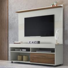 Imagem de Rack Com Painel Para Tv 60 Polegadas Samba 1.4 Espresso Móveis Off White/nogueira