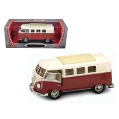 Imagem de Miniatura 1962 Volkswagen Microbus Kombi 1:18 Yat Ming - Bordo