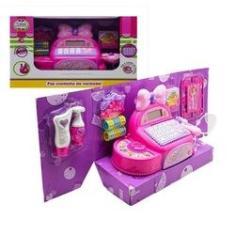 Imagem de Caixa Registradora De Brinquedo Com Calculadora E Acessórios