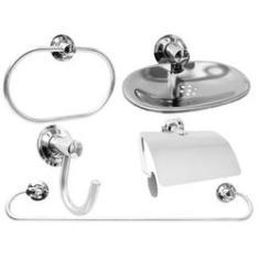 Imagem de Kit Acessórios Aço Inox Para Banheiro 5 Peças