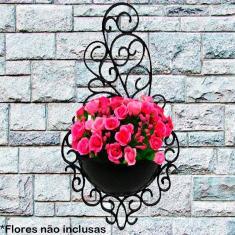 Imagem de Kit 4 Vasos Arandela Plástico Plantas Colonial Suspenso Decorativo Horta Enfeite Jardim Cor: