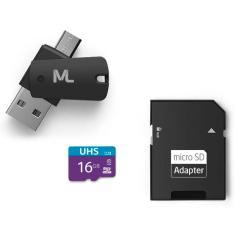 Cartão de Memória Micro SD com Adaptador Multilaser 16 GB MC150