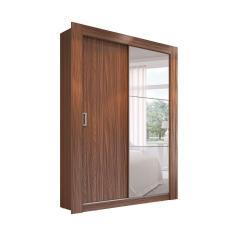 Imagem de Guarda-Roupa Solteiro 2 Portas com Espelho Baden Herval