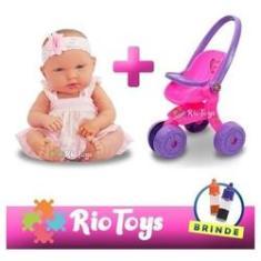 Imagem de Boneca Bebê Reborn Recem Nascida Carrinho Lançamento