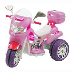Imagem de Moto Elétrica Sprint Turbo Pink Brinquedo Infantil 12V Biemme 673