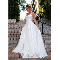 Imagem de Vestido De Noiva Casamento Praia Civil Religioso Rendado