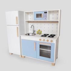 Imagem de Cozinha Infantil  C/ Pia Fogão Microondas Geladeira