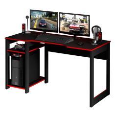Imagem de Mesa Para Escritório Gamer Me4152-Tecno Mobili - Preto / Vermelho