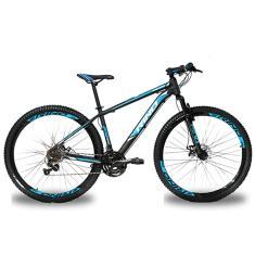 Bicicleta Rino Lazer 24 Marchas Aro 29 Suspensão Dianteira Freio a Disco Hidráulico Atacama