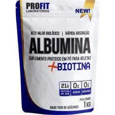 Albumina Biotina Refil Stand-Up - 1000G Amendoim - Profit