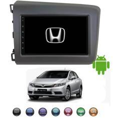 "Central Multimídia Automotiva H-Tech 7 "" Honda Civic 2012 2013 2014 Bluetooth USB"