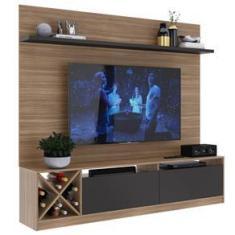 Imagem de Rack Com Painel Para Tv Até 50 Polegadas 2 Portas  Montana/grafite 2023 - Quditá Móveis