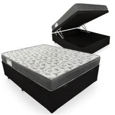 Cama Box Baú Casal com Colchão Ortobom - ISO 100 138cm Lucas Colchões