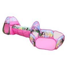 Imagem de Toca Barraca Infantil Com Túnel 3 Em 1 Princesas - Dm Toys