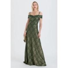 Imagem de Vestido de festa em renda  verde Ref. 2422