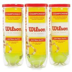 Bola de Tênis Wilson Championship Pack com 03 Tubos