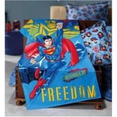 Imagem de Toalha De Banho Infantil Menino Felpuda Macia - Superman