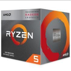 Processador AMD Ryzen 5 3400G Cache 4MB 3.7GHz 4.2GHz Max Turbo AM4 YD3400C5FHBOX