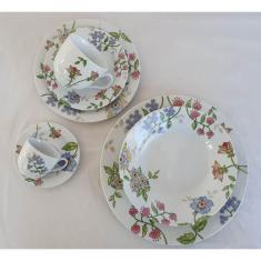 Imagem de Aparelho de Jantar Porcelana - 42 peças - Flores Silvestres - Casamiga