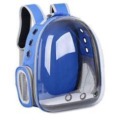 Imagem de ForHe Mochila transparente de cápsula respirável, bolsa de viagem para cães e gatos, mochila para transporte ao ar livre, acessórios de viagem para animais de estimação para gatos pequenos, médios,