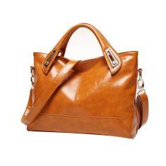 Imagem de Óleo de cera couro feminino bolsa elegante bolsa bolsa de ombro quadrada tendência