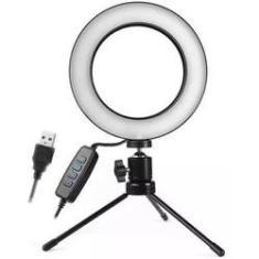 Imagem de Iluminador De Led Com Tripe Ring Light Usb 16cm 3500k 5500k