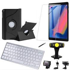 """Imagem de Capa Giratória Samsung Tab S7 11"""" T870/T875 + Película + Teclado +Suporte Mesa + Caneta"""