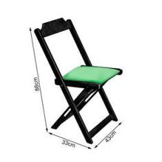 Imagem de Conjunto De Mesa Dobravel De Madeira 60x60 Com 4 Cadeiras  Estofado Verde